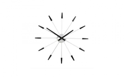 Zegar Nextime Plug Inn - idealny zegar ścienny metalowy