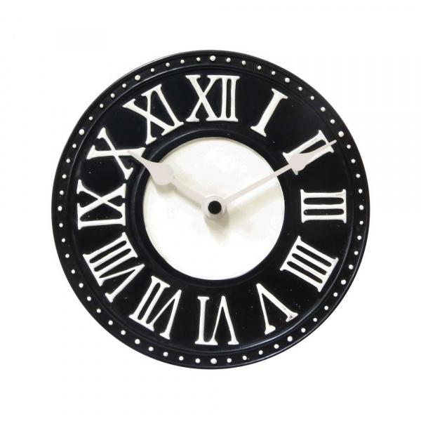 Zegar ścienny 16,5 cm NeXtime London Table czarny 5187ZW