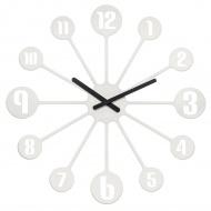 Zegar ścienny 24 cm Koziol Pinball biały