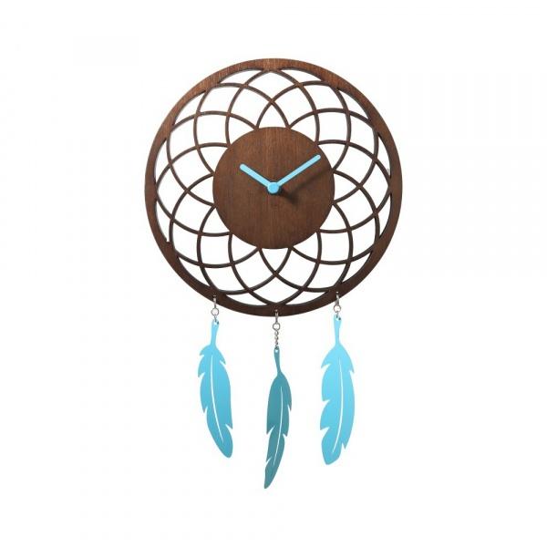 Zegar ścienny 24 cm NeXtime Dreamcatcher brązowy 3114BR