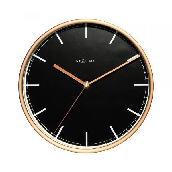 Zegar ścienny 25 cm NeXtime Company czarno-miedziany 3120ST