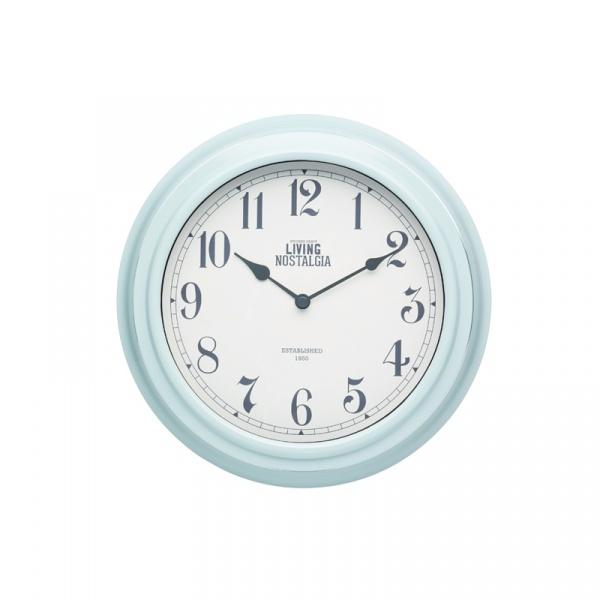 Zegar ścienny 25,5 cm Kitchen Craft Living Nostalgia miętowy LNCLOCKBLU