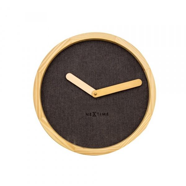 Zegar ścienny 30 cm NeXtime Calm brązowy 3155BR