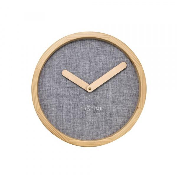 Zegar ścienny 30 cm NeXtime Calm szary 3155GS