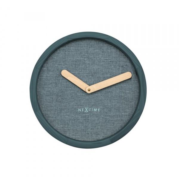Zegar ścienny 30 cm NeXtime Calm turkusowy 3155TQ