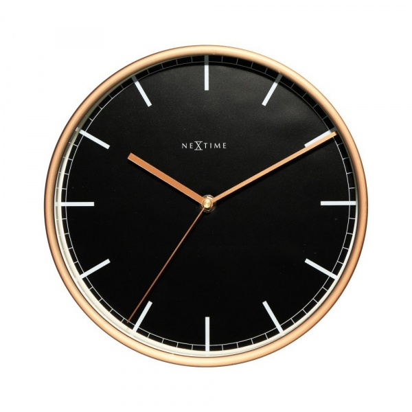 Zegar ścienny 30 cm NeXtime Company czarno-miedziany 3122ST