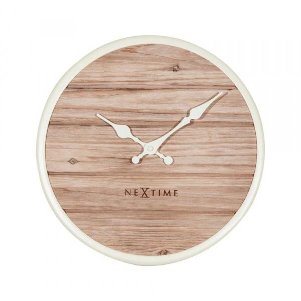 Zegar ścienny 30 cm NeXtime Plank biały 3133WI
