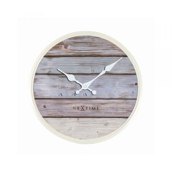Zegar ścienny 30 cm NeXtime Plank szary 3133GS