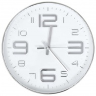 Zegar ścienny, 30 cm, srebrny