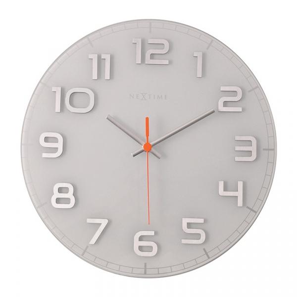 Zegar ścienny 30cm Nextime Classy biały 8817WI