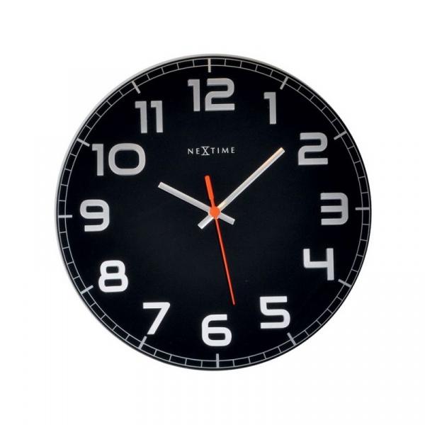 Zegar ścienny 30cm Nextime Classy czarny 8817ZW