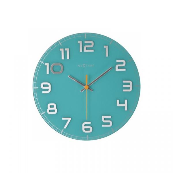 Zegar ścienny 30cm Nextime Classy turkusowy 8817TQ