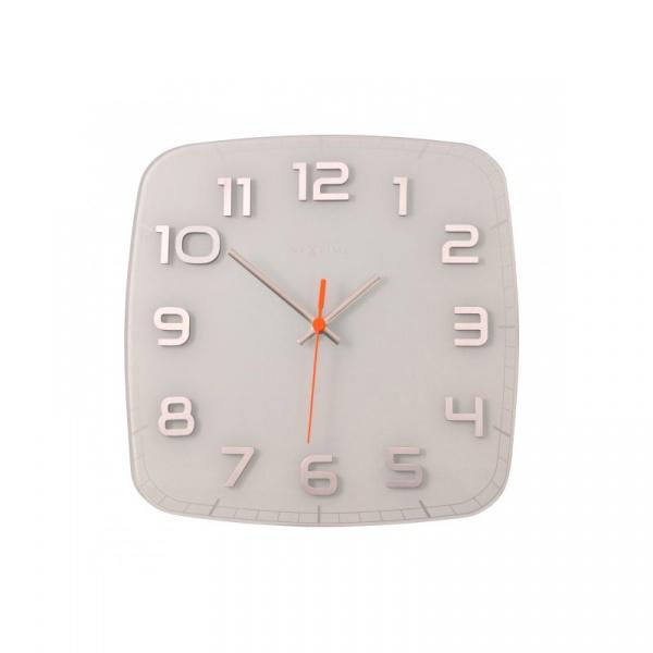 Zegar ścienny 30x30 cm Nextime Classy biały 8816WI