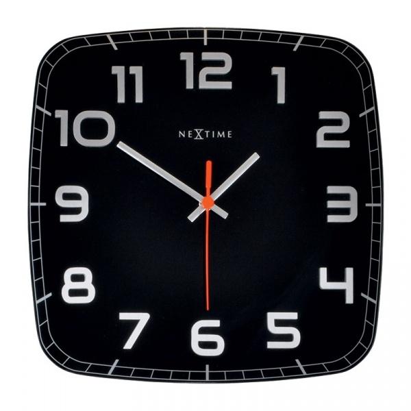 Zegar ścienny 30x30 cm Nextime Classy czarny 8816ZW