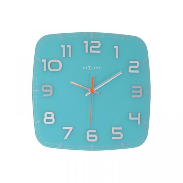 Zegar ścienny 30x30 cm Nextime Classy turkusowy 8816TQ