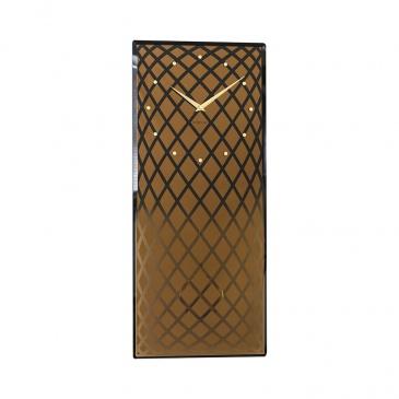 Zegar ścienny 30x70 cm Nextime Pendula złoty matowy