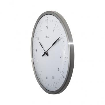Zegar ścienny 33 cm Nextime 60 Minutes biały