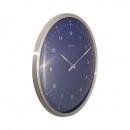 Zegar ścienny 33 cm Nextime 60 Minutes niebieski