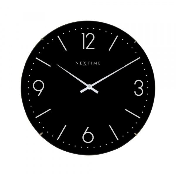 Zegar ścienny 35 cm NeXtime Basic Dome czarny 3157ZW