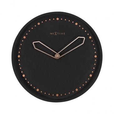 Zegar ścienny 35 cm Nextime Cross czarny
