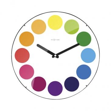 Zegar ścienny 35 cm Nextime Dots Dome biały