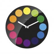 Zegar ścienny 35 cm Nextime Dots Dome czarny