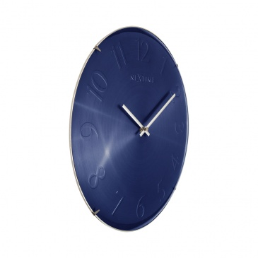 Zegar ścienny 35 cm Nextime Elegant Dome niebieski