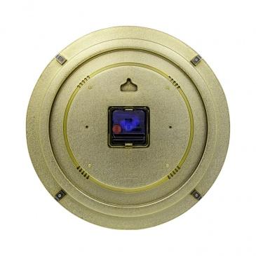 Zegar ścienny 35 cm Nextime Elegant Dome złoty