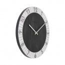 Zegar ścienny 35 cm Nextime Flare srebrny