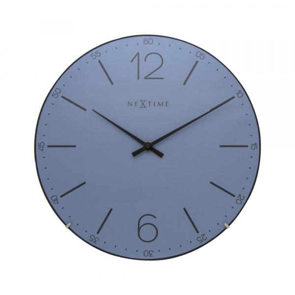 Zegar ścienny 35 cm NeXtime Index Dome niebieski 3159BL