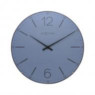 Zegar ścienny 35 cm Nextime Index Dome niebieski