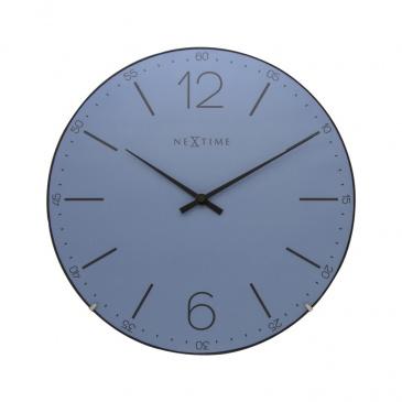 Zegar ścienny 35 cm Nextime Index Dome niebieski 3159 BL