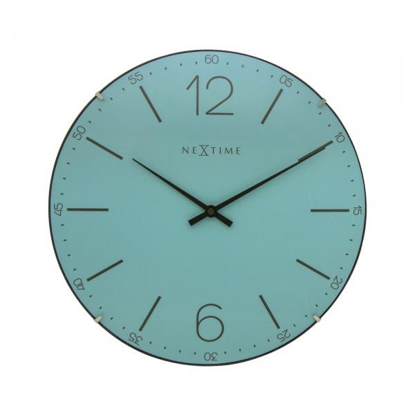 Zegar ścienny 35 cm NeXtime Index Dome turkusowy 3159TQ
