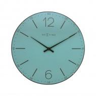 Zegar ścienny 35 cm Nextime Index Dome turkusowy