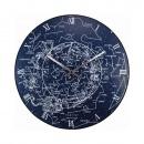 Zegar ścienny 35 cm Nextime Milky Way Dome niebieski