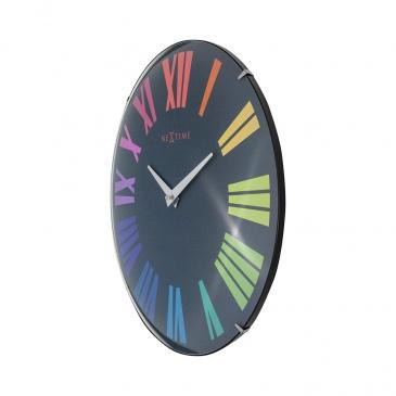 Zegar ścienny 35 cm Nextime Roman Dome kolorowy