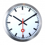 Zegar ścienny 35 cm Nextime Station biały