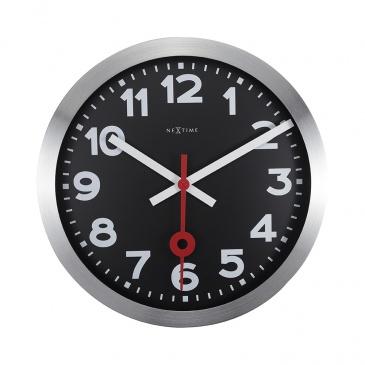 Zegar ścienny 35 cm Nextime Station czarny