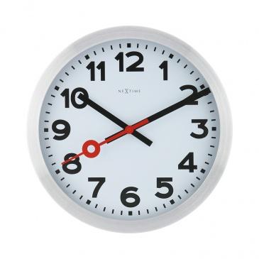 Zegar ścienny 35 cm Nextime Station RCC biały