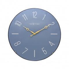 Zegar ścienny 35 cm Nextime Trendy Dome niebieski