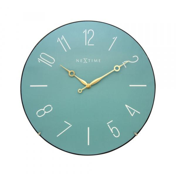 Zegar ścienny 35 cm NeXtime Trendy Dome turkusowy 3158TQ