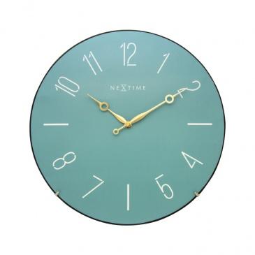 Zegar ścienny 35 cm Nextime Trendy Dome turkusowy