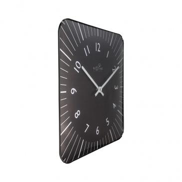 Zegar ścienny 35x35 cm Nextime Alex RC czarny