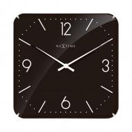 Zegar ścienny 35x35 cm Nextime Basic Square Dome czarny