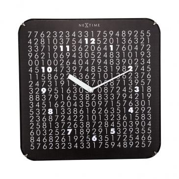 Zegar ścienny 35x35 cm Nextime Labyrinth czarny