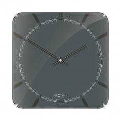 Zegar ścienny 35x35 cm Nextime Michael Square Dome szary