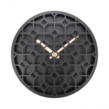 Zegar ścienny 36 cm Nextime Discrete czarny