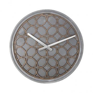 Zegar ścienny 39 cm Nextime Concrete Love szary