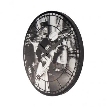 Zegar ścienny 39 cm Nextime Kiss me in New York