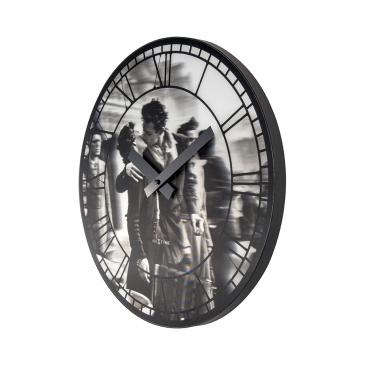 Zegar ścienny 39 cm Nextime Kiss me in Paris